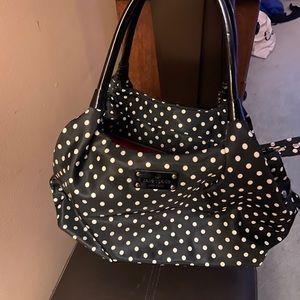 Black and white polka dot Kate Spade shoulder bag